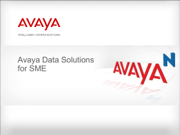 Avaya Data Solutions for SME