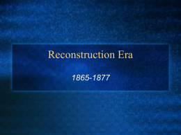 Reconstruction Era - Reading Community Schools