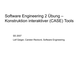Uebung - Software Engineering Research Group Kassel