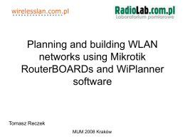 Network planning and building using Mikrotik