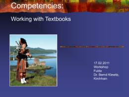 Working with Textbooks