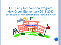 What is EIP? - Forsyth County Schools