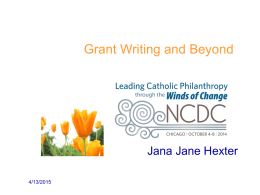 Grant writing and Beyond – Hexter