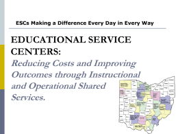Ohio`s Educational Service Centers Update