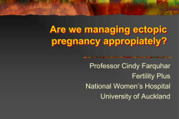 Management of Ectopic Pregnancy