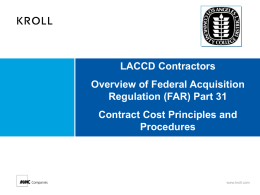 Direct Costs - Build LACCD