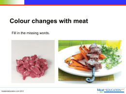 Missing words meat colour IWB