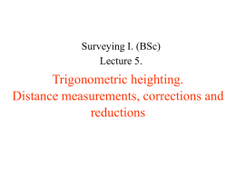 Trigonometric heighting The effect of Earth`s curvature