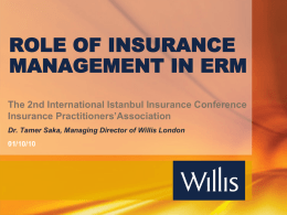 Tamer Saka - International Istanbul Insurance Conference
