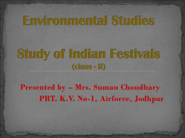 ppt on indian festivals