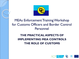 The practical aspects of implementing MEA controls