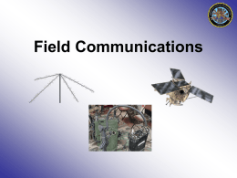 PPT: Comms Staff Overview