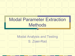 Modal Parameter Extraction Methods - Saeed Ziaei-Rad