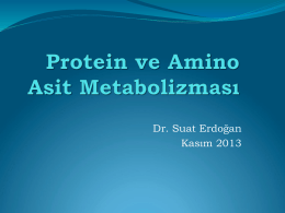 Protein ve amino asit metabolizması_School of Nursing