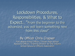 Lock Down Lesson Plan