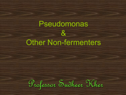 Pseudomonas & Other Non