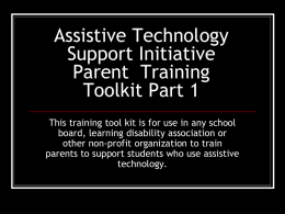 Assistive Technology Support Volunteer Training Toolkit