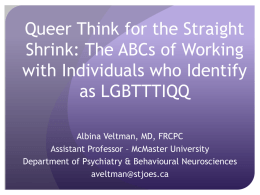 Queer Think for the Straight Shrink