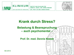 Krank durch Stress?