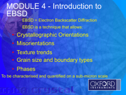 Introduction to EBSD