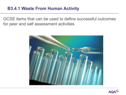 Ppt B3.4.1 Waste from human activity