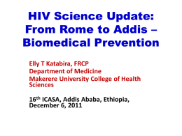 From Rome to Addis - International AIDS Society