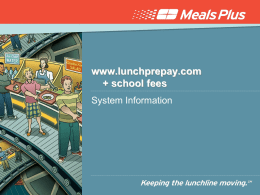 Online meal pay info