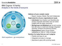 IBM Business Analytics Q1 2012 Update