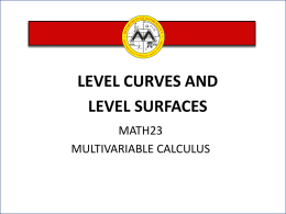 L7 Level Curves and Surfaces