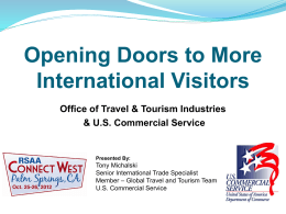 Travel & Tourism and the U.S. Department of Commerce