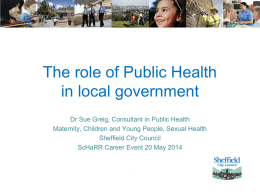 Working in Public Health in the UK