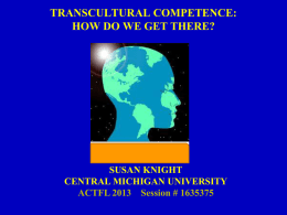 transcultural competence: how do we get there?