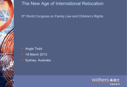 Hong Kong - the World Congress on Family Law and Children`s Rights