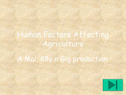 Human Influences on farming