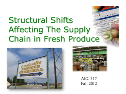 Structural Shifts Affecting The Supply Chain in Fresh Produce