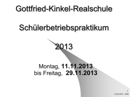 PowerPoint-Präsentation - Gottfried-Kinkel