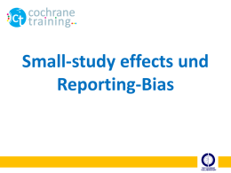 Reporting biases - Cochrane Training