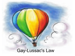 Gay Lussac`s Law