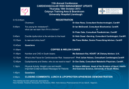 11th Annual Conference CARDIOVASCULAR RISK