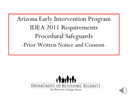 Prior Written Notice and Consent Powerpoint