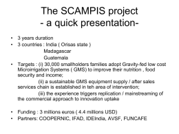 The SCAMPIS project - a quick presentation-