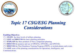 Topic 17 CSGESG Planning inst ppt 14 Jul 08