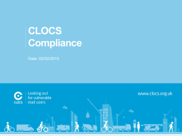 CLOCS supplier presentation template