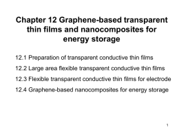 Chapter 12 Graphene-based transparent thin films and