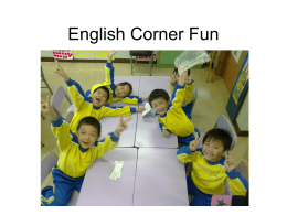 English Corner Fun Powerpoint