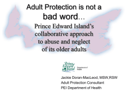 Adult Protection is not a bad word - Mms