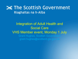 Scottish Government – Bill Presentation