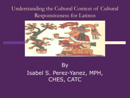 Understanding the Cultural Context of Cultural Responsiveness