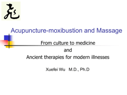 Acupuncture &moxibustion and massage