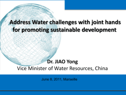 Water Policy and Practice of China